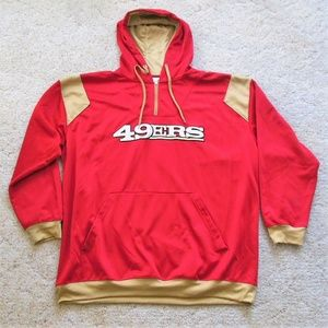 49ers Red and Gold Hoodie size 3XL